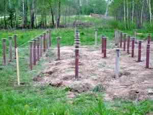 Фундамент на винтовых сваях под дом из бревна, Волоколамский район