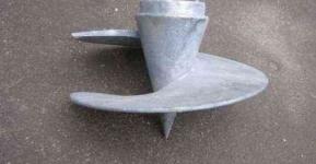 Литой наконечник для винтовой сваи