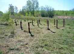 Фундамент на винтовых сваях под дом из бревна, Тульская область