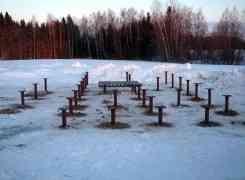 Фундамент под дом из бруса 200х200 мм., с формированием площадки под печь. Московская область.